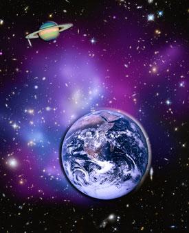 Galaxy-Cluster-Earth-Saturn