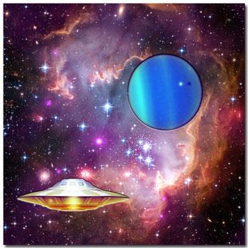 Uranus-in-star-cluster